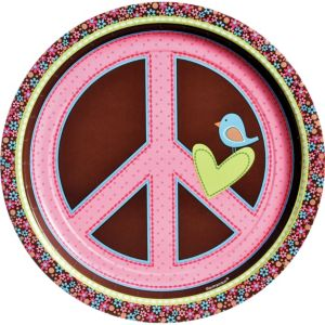 Hippie Chick Lunch Plates 8ct