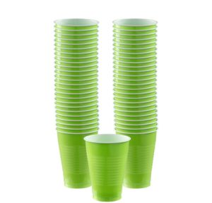BOGO Kiwi Green Plastic Cups 50ct