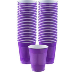 BOGO Purple Plastic Cups 50ct
