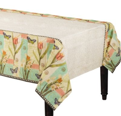 Garden Melody 54in x 102in Paper Table Cover