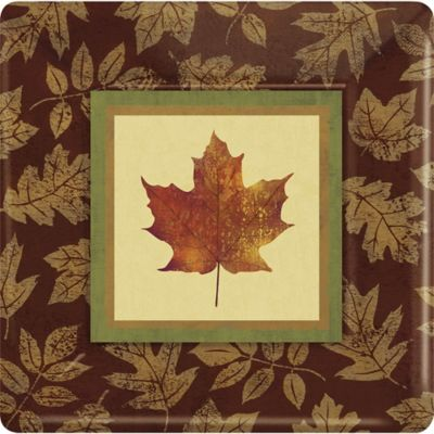 Fall Elegance Square Paper Plates 8ct