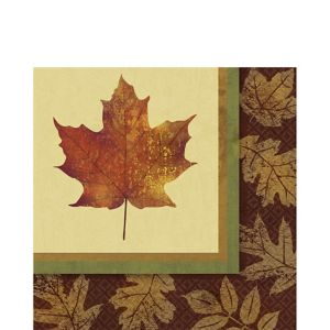 Fall Elegance Lunch Napkins 16ct