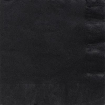 Black Dinner Napkins 50ct