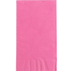 Big Party Pack Bright Pink Guest Towels 40ct