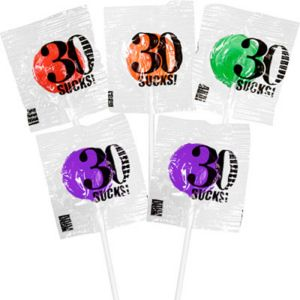 30 Sucks Birthday Lollipops 5ct