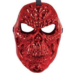 Red Metallic Skull Mask