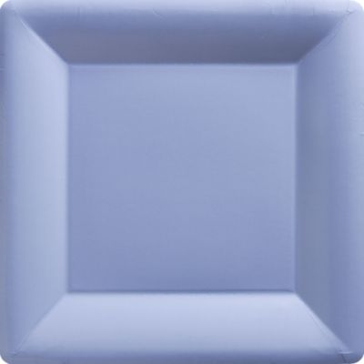 Pastel Blue Paper Square Dinner Plates 20ct