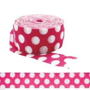 Pink & White Dot Streamer
