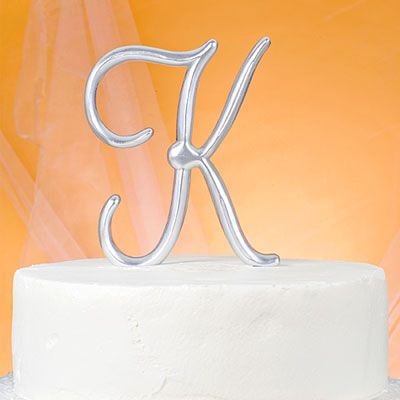 Monogram K Wedding Cake Topper