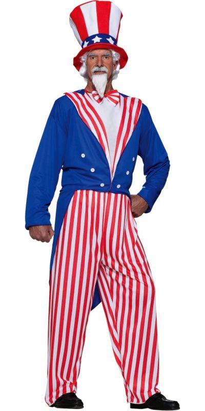 Adult Uncle Sam Costume Plus Size