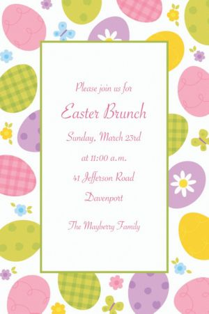 Custom Eggstravaganza Invitations