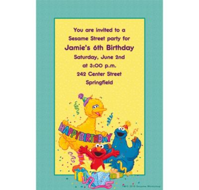 Sesame Street Birthday Custom Invitation