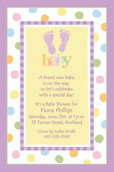 Baby Steps Custom Baby Shower Invitation