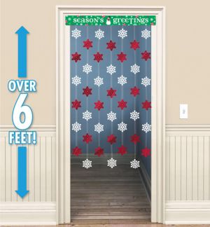 Season's Greetings Door Curtain
