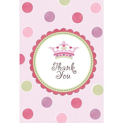 Little Princess Baby Shower Thank You Notes 8ct