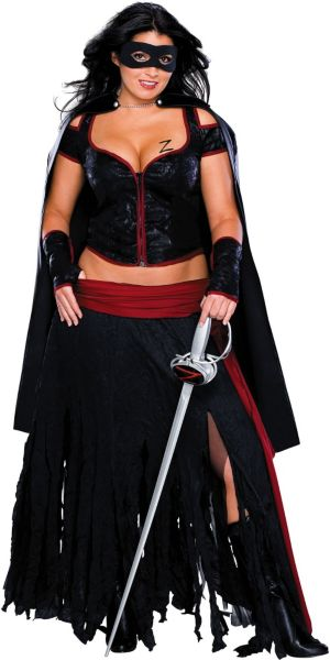 Adult Lady Zorro Costume Plus Size