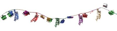 Multicolor Happy Birthday Wire Garland