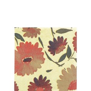 Warm Floral Beverage Napkins 16ct