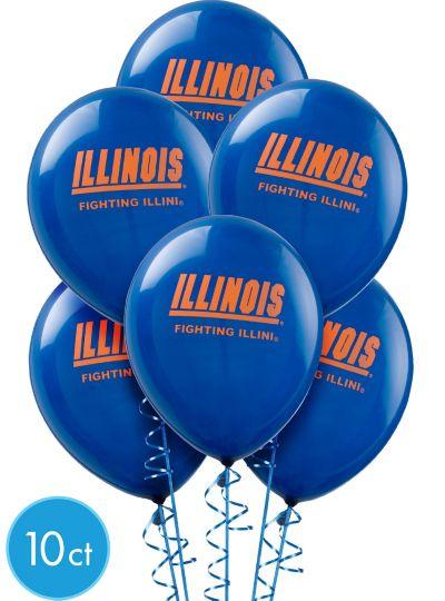 Illinois Fighting Illini Balloons 10ct