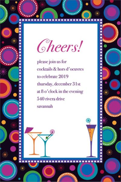 Custom Modern New Year's Invitations