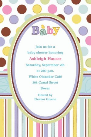 Custom Tiny Bundle Baby Shower Invitations