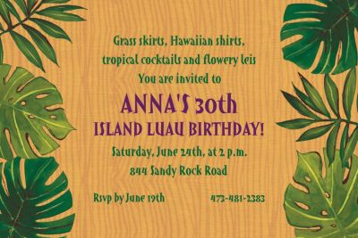 Custom Island Palms Invitations