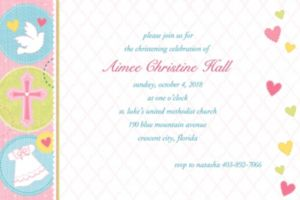 Custom Sweet Christening Girl Invitations