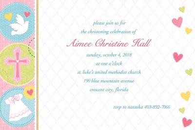 Sweet Christening Girl Custom Invitation