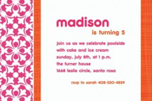 Custom Fresh Hues Bright Pink Invitations
