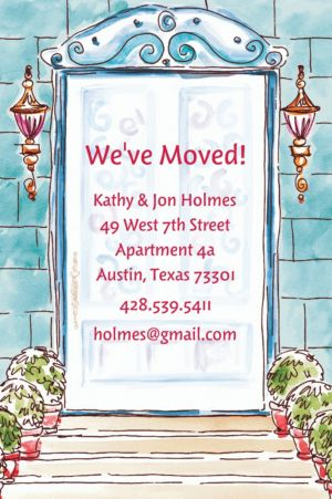 Custom Home Front Door Moving Announcements