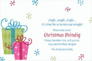 Custom Fancy Christmas Gifts Invitations