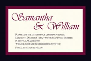 Custom Austere Border Burgundy Invitations