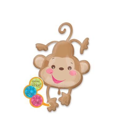 Baby Shower Balloon - Fisher-Price Monkey