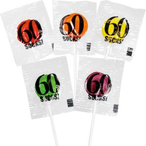 60 Sucks Birthday Lollipops 5ct