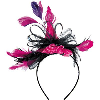 Pink Tricolor Party Hat Headband