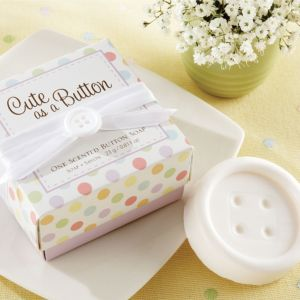 Cute As A Button Scented Button Soap Baby Shower Favor