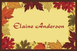 Custom Autumn Medley Thank You Notes