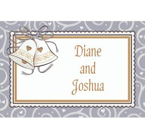 Custom Platinum Proposal Bridal Shower Thank You Notes