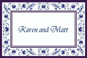 Custom Blue Provence Thank You Notes