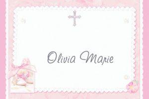 Custom Tiny Blessing Pink Thank You Notes