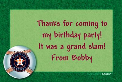 Custom Houston Astros Thank You Notes