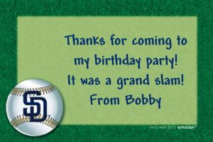 Custom San Diego Padres Thank You Notes