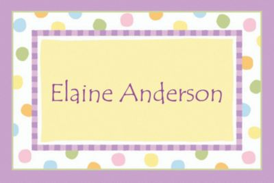 Pastel Dots Custom Baby Shower Thank You Note