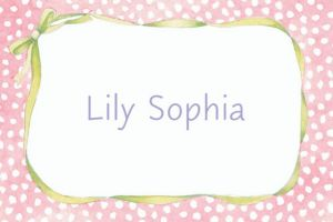 Custom Pink Polka Dots & Bow Baby Shower Thank You Notes