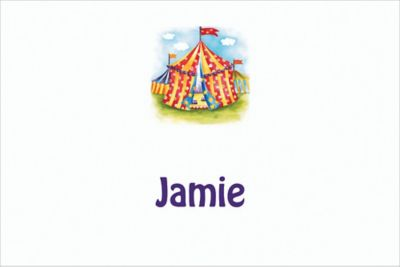 Circus Tent Custom Thank You Note