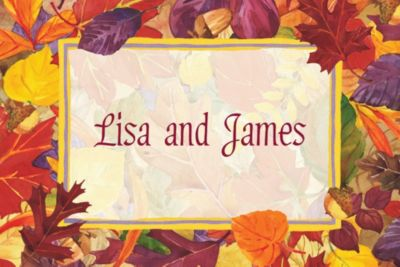 Custom Fallen Autumn Leaves Thank You Notes