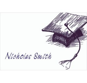 Custom Mortarboard Sketch Graduation Thank You Notes