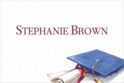 Cap and Diploma Still Life Custom Thank You Notes
