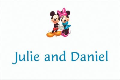 Custom Mickey and Minnie Mouse Birthday Thank You Notes