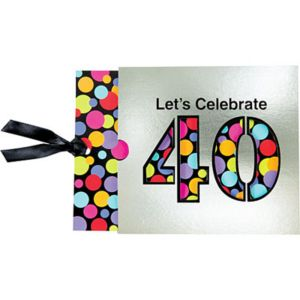 40th Birthday Jumbo Invitations 8ct